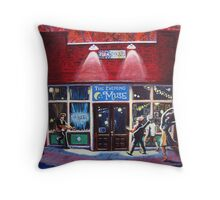 The Evening Muse Throw Pillow