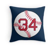 # 34 Baseball Design (Red) Throw Pillow