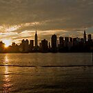 Manhattan sunset II by Tom  Marriott