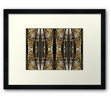Autumn Mirrored Collage Framed Print