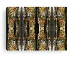 Autumn Mirrored Collage Canvas Print