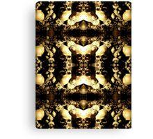 Mirrored Image Skulls Collage Canvas Print