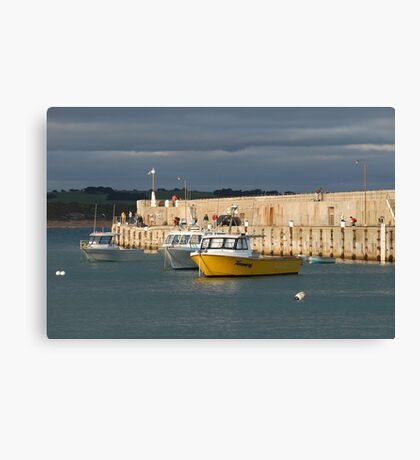 Warrnambool harbour  Canvas Print