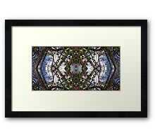 Mirrored Tree Collage 1 Framed Print