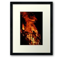 Ghostly Flame Framed Print