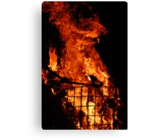Ghostly Flame Canvas Print