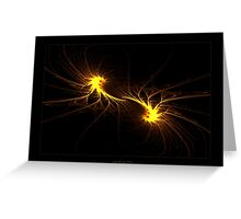 """Twin Flames""  - Fractal Art Greeting Card"