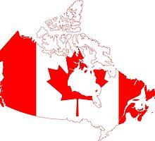 Canada Flag Map  by abbeyz71