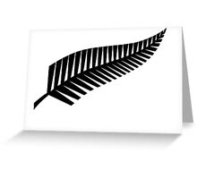 All Blacks New Zealand Fern Greeting Card