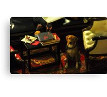 Sophisticated Pooch Canvas Print