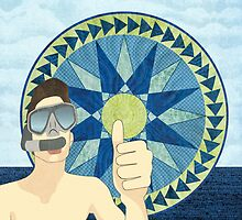 Snorkeling with Mariner's Compass by Janet Carlson