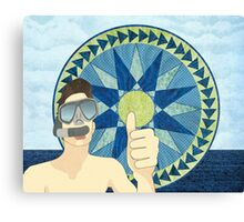 Snorkeling with Mariner's Compass Canvas Print