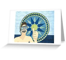 Snorkeling with Mariner's Compass Greeting Card