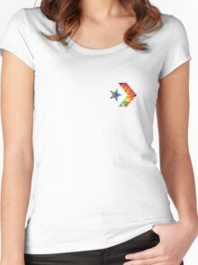 Tie Dye Converse Logo  Women's Fitted Scoop T-Shirt