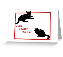 Black Cat Notes Greeting Card
