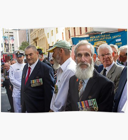 Veterans at Anzac Day Poster