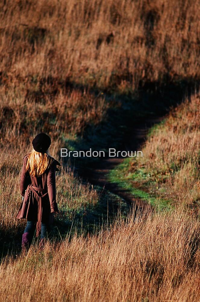 rachel taking a walk on the headlands  by Brandon Brown