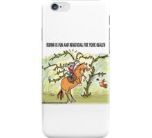 Riding is fun and beneficial for your health iPhone Case/Skin