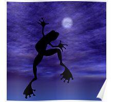 Frog Dancing Poster