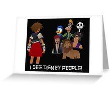 I See Disney People! Greeting Card