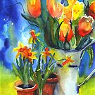 spring and daffodils by aquaarte