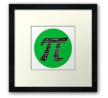 Green and Black Pi Framed Print