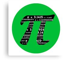 Green and Black Pi Canvas Print