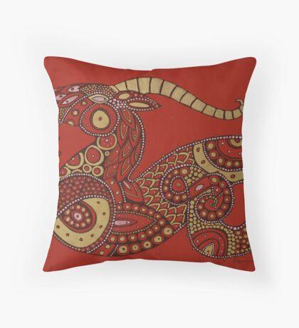 Red Dragon No. 2 Throw Pillow
