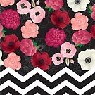 Chevron & Flowers by thickblackoutline