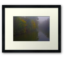 Fog Along The Tauber Framed Print