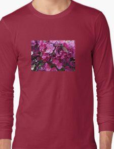 Dark Pink Cherry Blossoms Long Sleeve T-Shirt