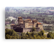 Italian Castles - Castle Of Torrechiara Canvas Print