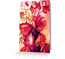 red hot tulips Greeting Card