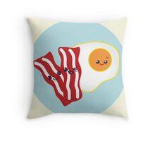 Kawaii Bacon&Eggs Throw Pillow