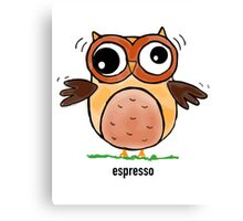Coffee Owls- Espresso Canvas Print