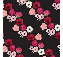 Black & Flowers Photographic Print