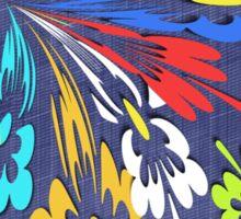 Blue denim floral pattern Sticker
