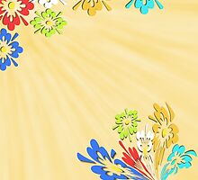 Cream floral pattern by Dipali S