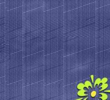 Blue denim pattern Sticker