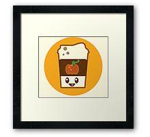 Kawaii Pumpkin Spice Latte Framed Print