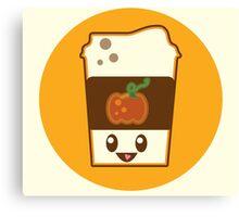 Kawaii Pumpkin Spice Latte Canvas Print