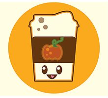 Kawaii Pumpkin Spice Latte Photographic Print