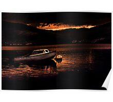 Sunset at Loch Long Poster