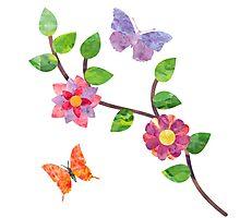 Butterflies & Blooms Photographic Print