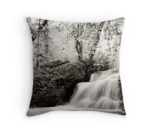 Catarata rio Piedra Throw Pillow