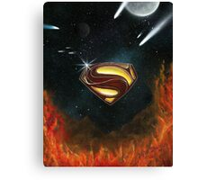 Superman ''Shield of Power'' Canvas Print