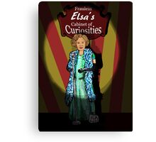 Elsa's cabinet of curiosities  Canvas Print