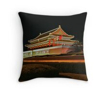 0117 - Beijing Tiananmen Square Throw Pillow
