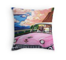 'Elvis & Jesus Go For A Drive' Throw Pillow