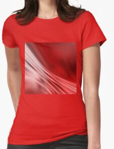 Red abstract pattern Womens Fitted T-Shirt
